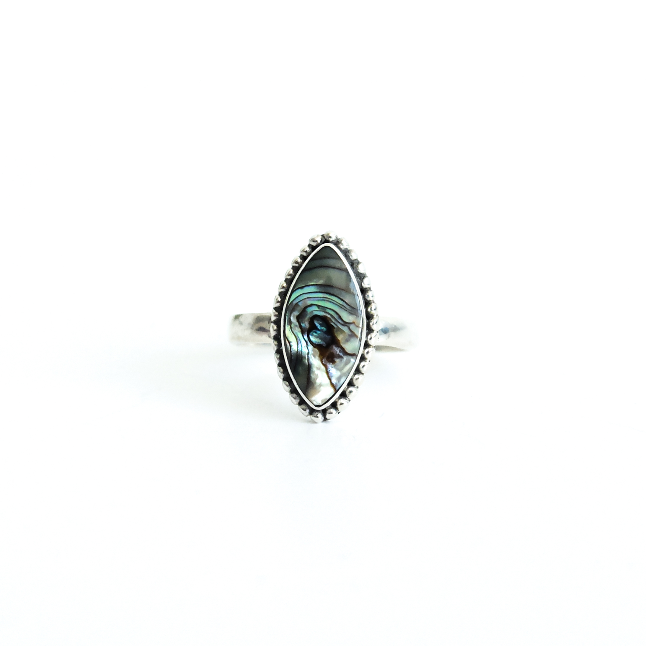 abalone rings silver products crown auld ring teardrop jewelry melanie engagement